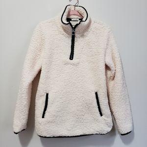 Thread & Supply fuzzy sherpa teddy bear sweater XS